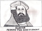 Adventures Drawings Posters - Elector Fedrich The Wise Of Saxony Poster by Ademola kareem oshodi
