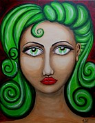 Bold Abstact Paintings - Electra by Claudia Tuli