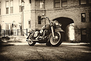 White Walls Framed Prints - Electra Glide High Brow Framed Print by Big Nick Solovey