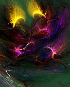 Abstract Expressionism - Electric Abstract 052510 by David Lane