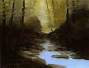 East Tennessee Paintings - Electric Blue Pool by Mark Froehlich