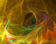 Fractal Geometry Digital Art Originals - Electric Cave by William Wright