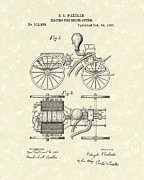System Drawings Framed Prints - Electric Fire Engine 1885 Patent Art Framed Print by Prior Art Design