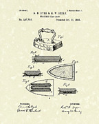 Vintage Iron Prints - Electric Flat Iron 1883 Patent Art Print by Prior Art Design