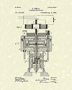Electric Generator 1894 Patent Art Print by Prior Art Design