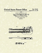 Neck Drawings - Electric Guitar 1958 Patent Art by Prior Art Design