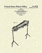 Music Drawings Metal Prints - Electric Guitar 1960 Patent Art  Metal Print by Prior Art Design