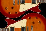 Guitar Digital Art Prints - Electric Guitar II Print by Mike McGlothlen
