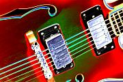 "\""electric Guitar\\\"" Digital Art Framed Prints - Electric Guitar Framed Print by Peter  McIntosh"