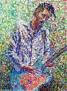 Electric Guitar Painting Originals - Electric Guitar Player by Itai Arad