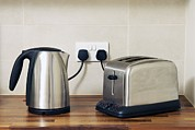 Toaster Prints - Electric Kettle And Toaster Print by Johnny Greig
