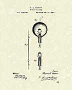 Electric Lamp 1880 Patent Art Print by Prior Art Design