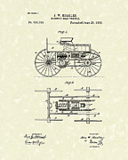 Electric Car Framed Prints - Electric Road Vehicle 1893 Patent Art Framed Print by Prior Art Design