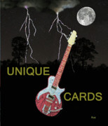Simply Cards Prints - Electric Rock N Roll  Print by Eric Kempson