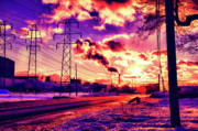 Apocalyptic Prints - Electric Skies Print by Chuck Alaimo