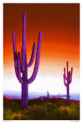 Monument Digital Art Framed Prints - Electric Southwest 2 Framed Print by Mike McGlothlen