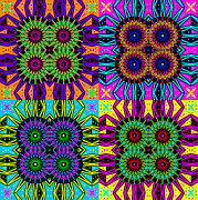 Op Art Digital Art Posters - Electric Times 4 Poster by Joy McKenzie