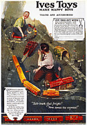 Toy Train Prints - Electric Train Ad, 1918 Print by Granger