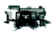 Toy Train Prints - Electric Train, X-ray Print by Neal Grundy