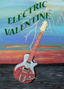 Fathers Paintings - Electric Valentine by Eric Kempson
