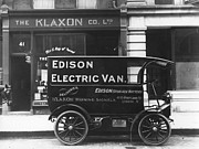 Personal Land Vehicle Framed Prints - Electric Van Framed Print by Hulton Collection