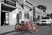 Small Towns Prints - Electric Vehicle . Peddle Power . Infinite Miles To The Gallon . 7D12729 Print by Wingsdomain Art and Photography