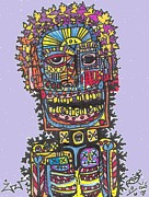 Post Modern Mixed Media - Electric Vibe by Robert Wolverton Jr