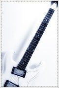 Fender Strat Digital Art - Electric White by Bill Cannon