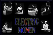 Electricity Framed Prints - Electric Women Framed Print by Andrew Fare