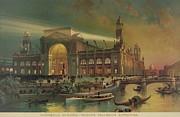 Columbian Exposition Posters - Electrical Building At The 1893 Worlds Poster by Everett