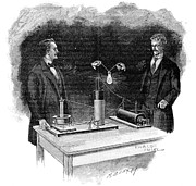 Alternating Current Prints - Electrical Experiment, Early 20th Century Print by