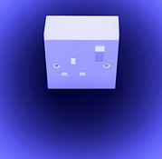 Alternating Current Prints - Electrical Power Socket Print by Kevin Curtis