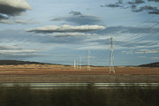 Castilla Prints - Electrical towers Print by Fernando Alvarez