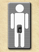 Old Objects Digital Art Posters - Electrical Wall Switch Poster by Yogesh More