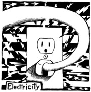 Yonatan Drawings - Electricity Maze by Yonatan Frimer Maze Artist