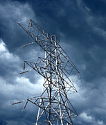 Electrical Wiring Prints - Electricity Pylon Print by Mark Sykes
