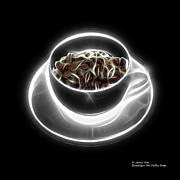 Rateitart Posters - Electrifyin The Coffee Bean -Version Greyscale Poster by James Ahn