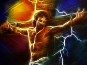 The King Art - Electrifying Jesus Crucifixion by Pamela Johnson