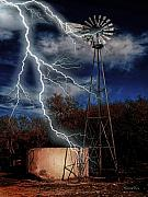Lightning Digital Art - Electrifying by Roland Berg