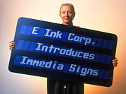 Printing Prints - Electronic Ink Sign Print by Volker Steger