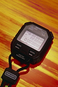 Electronic Watch Prints - Electronic Stopwatch Print by David Parker