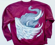 Wings Tapestries - Textiles - Elefly Custom Sweatshirt by Joseph Boyd