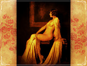 Artistic Nude Framed Prints - Elegance 2 Framed Print by Mary Morawska