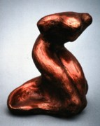 Warm Sculpture Metal Prints - Elegance Metal Print by Lonnie Tapia