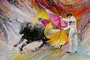 Bulls Painting Originals - Elegance by Miki De Goodaboom