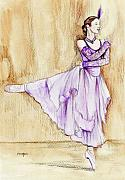 Dancer Art Mixed Media Prints - Elegance Print by Morgan Fitzsimons