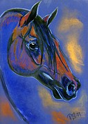 Horse Drawing Mixed Media Prints - Elegance Print by Tarja Stegars