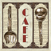 French Cafe Prints - Elegant Bistro 2 Print by Debbie DeWitt