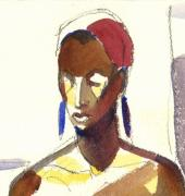 African-american Drawings - Elegant Black Lady by Pat Taylor