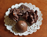 Dipped Prints - Elegant Chocolate Truffles Print by Louise Heusinkveld